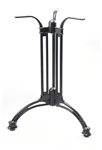 Mrhardware Bar Table Base Black Aluminum Suitable for Restaurants Bars and Cafes Easy to Install and Structurally Firm 3-Legs