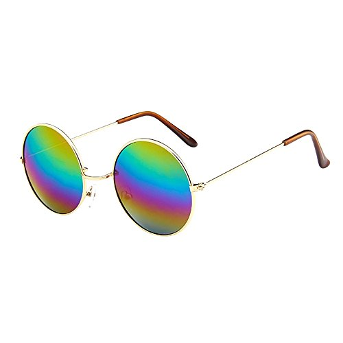 Round Sunglasses Large (YEZIJIN Women Men Vintage Retro Glasses Unisex Driving Round Frame Sunglasses Eyewear)