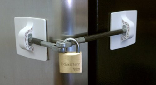 Refrigerator Door Lock With Padlock White In The Uae