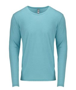 Next Level Men's Rib-Knit Tri-Blend Long-Sleeve T-Shirt, 2XL, Tahiti (Tri Blend Rib)
