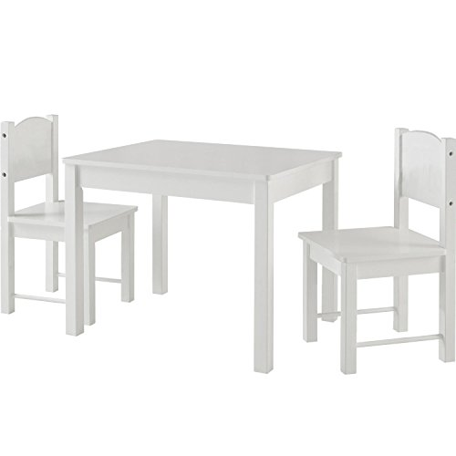 Timy Wooden Kids Table and 2 Chairs Set, Great for Playing, Learning, Eating by Timy