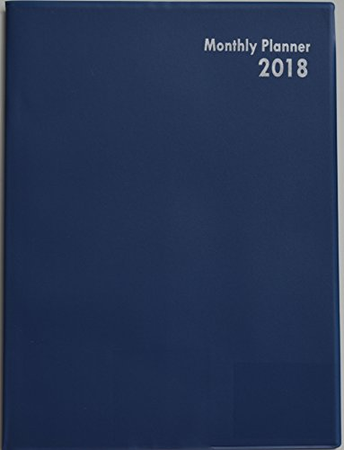 2018 Planner, Monthly Page Format, Blue
