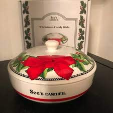 sees candy christmas candy dish - Christmas Candy Dishes