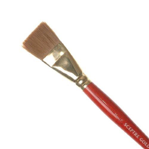 Winsor & Newton Sceptre Gold 606 Flatwash One Stroke Size 1 inch by Winsor & Newton