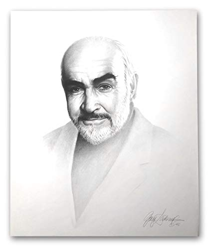 SEAN CONNERY 20X24 LITHOGRAPH BY ARTIST GARY SADERUP SIGNED POSTER JAMES BOND from Inscriptagraphs