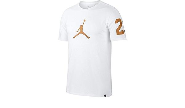 Jordan Camiseta Sportswear Jumpman Brand Mark blanco/dorado ...