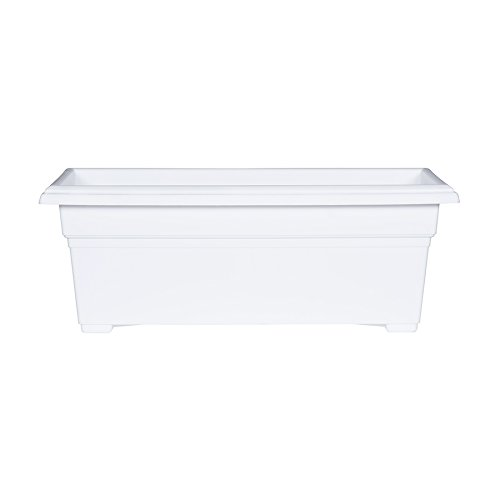 Novelty 331312 Countryside Patio Planter Box, White, 27 Inch