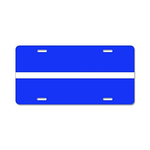 CafePress - Thin White Line License Plate - Aluminum License Plate, Front License Plate, Vanity Tag