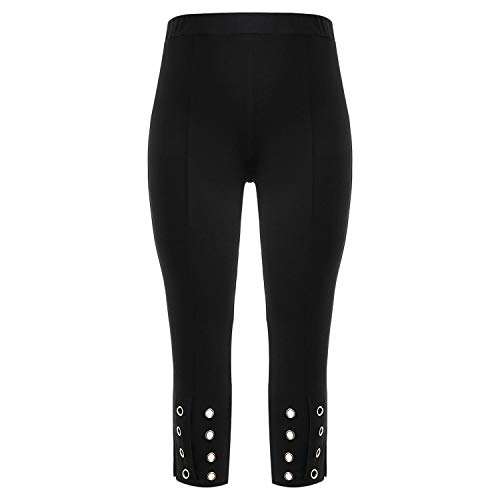 Women Pencil Pants Grommet High Rise Pants Fitted Cropped for sale  Delivered anywhere in USA