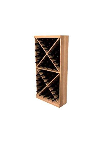 - Winemaker Series Wine Rack - Solid Diamond Cube - 4 Ft - Pine Light Stain