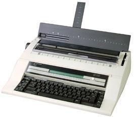 Nakajima ae-740s electrónico máquina de escribir con teclado español, 2 CPS velocidad de