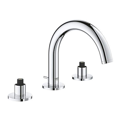 Wideset Bathroom Faucet Finish - GROHE 20072003 Atrio 8″ Widespread Two-Handle Bathroom Faucet S-Size, Starlight Chrome