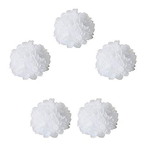 Ruiting Lot de 8pcs Pompons Boule de Fleur en Papier de Soie DIY D/écoration de No/ël Mariage F/ête Objets Maison//Cuisine Blanc, 20cm
