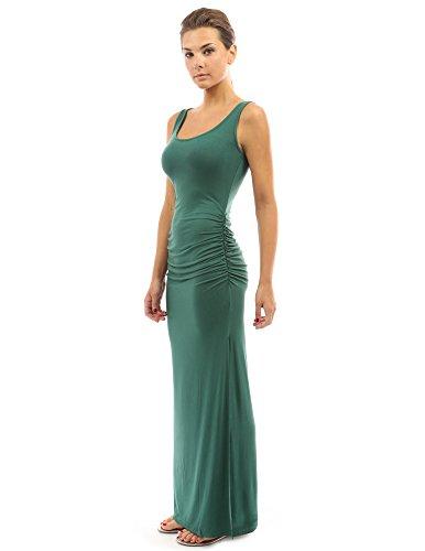 PattyBoutik DR-1087-PP-L - Vestido para mujer Medium green