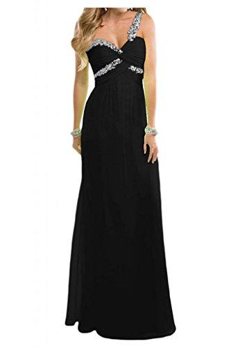 Toscana novia Dulcemente Imperio de la gasa vestidos de noche largo de dama de honor vestidos de noche de los vestidos de bola negro