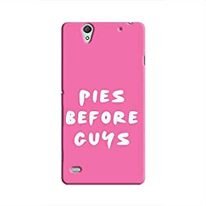 Cover It Up Pies before Guys Hard Case For Xperia C4, Pink & White