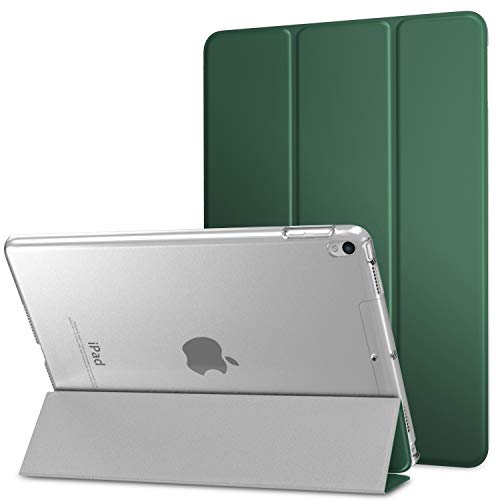 """MoKo Case Fit New iPad Air (3rd Generation) 10.5"""" 2019/iPad Pro 10.5 2017 - Slim Lightweight Smart Shell Stand Cover with Translucent Frosted Back Protector - Pine Forest (Auto Wake/Sleep)"""