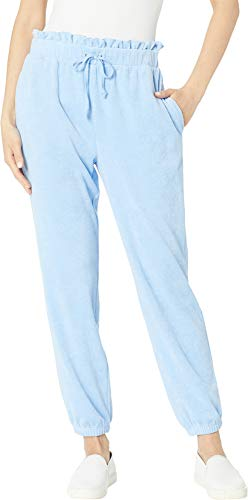 Juicy Couture Women's Microterry Paperbag Waist Pants Beach Blue Medium 26