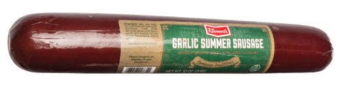 Klement's Garlic Summer Sausage, Hardwood Smoked 32 Oz (2 Pounds) - 1 Unit Per Order