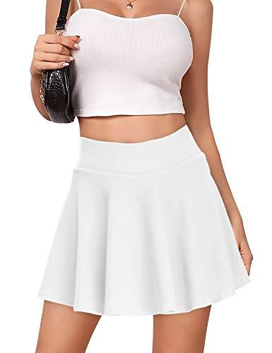 Falda de tenis para mujer b/ásica vers/átil informal yoga el/ástica minifalda fitness etc. para deporte s/ólida