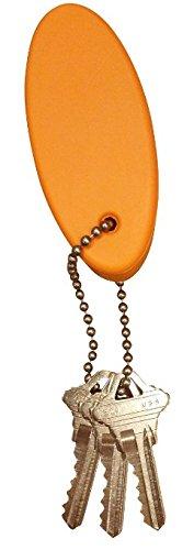 3 Pack ORANGE Floating Keychain key floats *Polyurethane Foam* 6 stainless ball chain JQuad Outdoor orangefloatpu