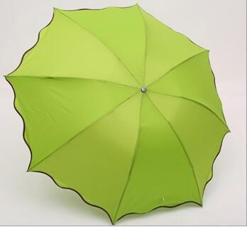 ct Verde Color Cortavientos Plegable Transparente Anti UV/Lluvia Coréen Encaje Princesa Paraguas sombrilla Verde