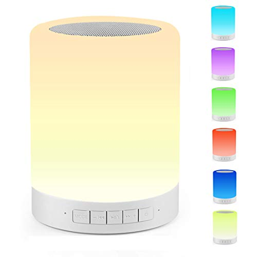 Touch Bedside Lamp Ourikamo Night Light Bluetooth