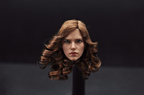 "Shalleen 1:6 Scarlett Johansson Black Widow Head Sculpt Model F 12"" Female Body"