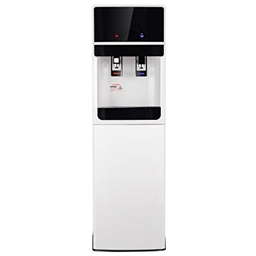 Costway Bottom Loading Water Cooler Dispenser Underlying Stainless Steel Water Dispenser Cold Hot 5 Gallon Home Office