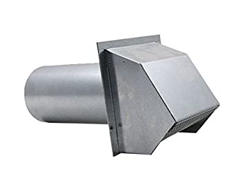 Gasket and Screen Hooded Wall Vent with Spring Loaded Damper Galvanized 8 inch
