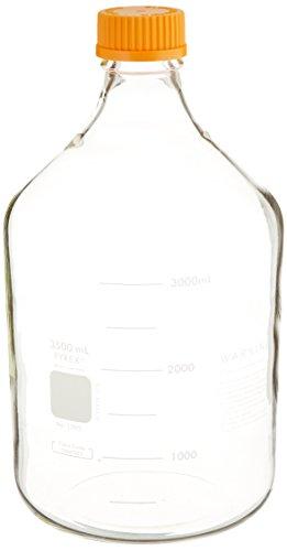 Corning Pyrex 1395-3X Media Storage Bottle with Screw Cap, Non-Sterile, 3500mL Capacity
