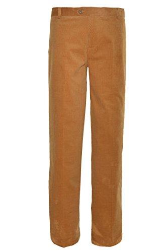Hathaway Mens Pima Cotton Corduroy Pant (Tan, 34x30)