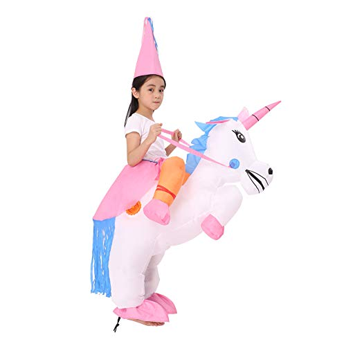 Decalare Dinosaur/Unicorn/Sumo/Bull Inflatable Costume Suit Halloween Cosplay Fantasy Costumes Kids (Kids-Unicorn)