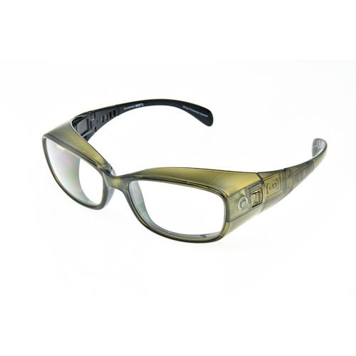 Optx 20/20 Eyedefend Allergy Glasses, Earthtone Green Mist with Clear Lens, Medium