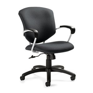 Mid Back Tilter Chair - Supra Mid-Back Pneumatic Tilter Office Chair with Arms Finish: Sapphire, Arms: Included