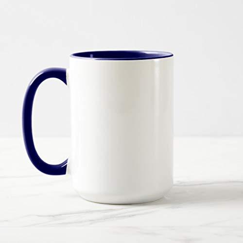 Zazzle Autoharps Outlawed Mug Navy Blue Combo Mug, 15 oz