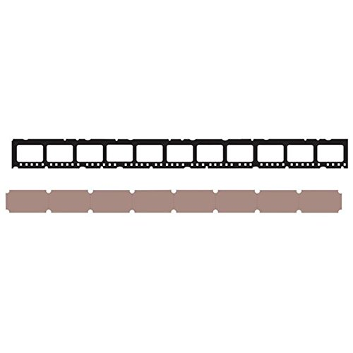 Sizzix 658551 Sizzlits Decorative Strip Die, Mini Filmstrip & Mini Tickets by Tim Holtz, -