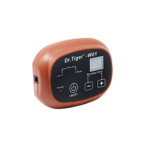 Dr.Tiger 1 Receiver Electric Dog Fence with Rechargeable Shock Collar, Wire In-Ground Invisible Dog or Cat Containment Fence System, Coffee by Dr.Tiger (Image #1)