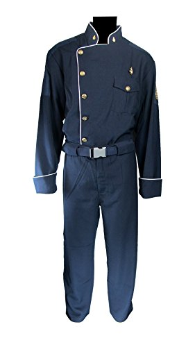 [Battlestar Galactica BSG Officer Duty Blues Junior Uniform Costume (L)] (Galactica Costumes)