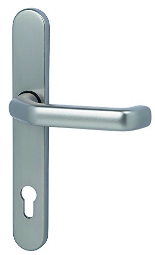 Narrow Backplate (ALPERTEC Berlin Innenhalbgarnitur Narrow Frame Fitting for Front Doors Door Lever Latch Door Handles on Backplate (1 Pack of 40331830)
