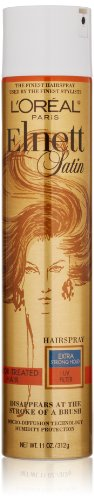 L'Oréal Paris Elnett Satin Extra Strong Hold Hairspray - UV Filter, 11 (Hairspray With Color)