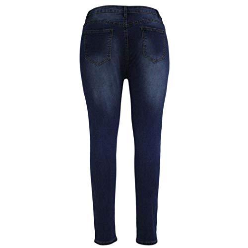 Colour Strappati Alta Denim Vita Bootcut Pantaloni Lunghi Jeans Grazioso Biran A Slim Donna pZx7Hqnw