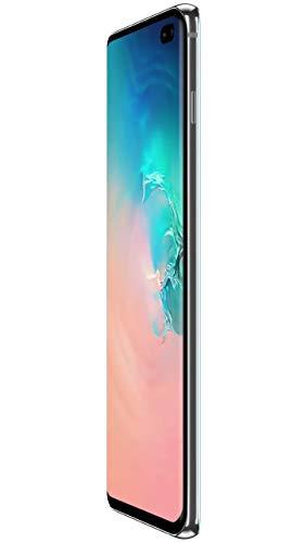 "Samsung Galaxy S10+ Plus 128GB+8GB RAM SM-G975F/DS Dual Sim 6.4"" LTE Factory Unlocked Smartphone International Model No-Warranty (Prism White)"