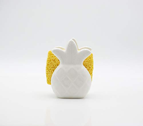 Pineapple napkin holder - ceramic napkin holder - pineapple sponge holder