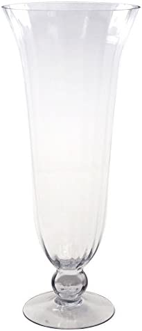 Homeford Clear Glass Tall Hurricane Floral Vase, 24-Inch