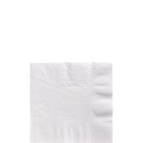 amscan White Beverage Napkin Big Party Pack, 125 Ct. -