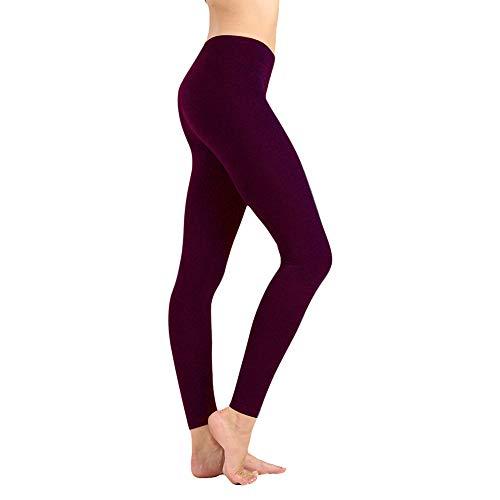 (Women's High Waist Leggings-Super Soft Slim Pants –One/Plus Size 20+ Design (Vintage Violet, Plus Size (US12-24)))