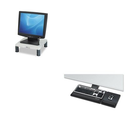 KITFEL8017901FEL91712 - Value Kit - Fellowes Designer Suites Premium Keyboard Tray (FEL8017901) and Fellowes Height-Adjust Standard Monitor Riser (FEL91712)