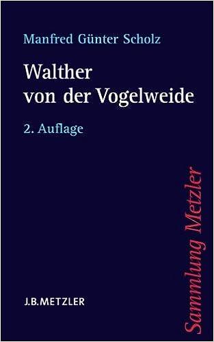 Book Walther von der Vogelweide (Sammlung Metzler)