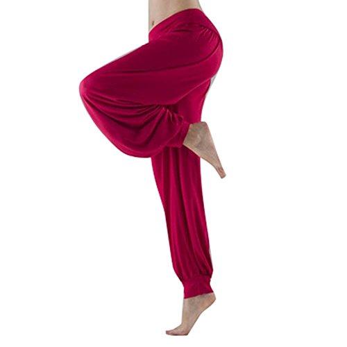 Donna Lunga Baggy Moda Yoga Primaverile Libero Grazioso Estivi Trousers Sportivi Vita Tempo Eleganti Elastica Harem Multistrato Di Pantaloni tqwCaPE